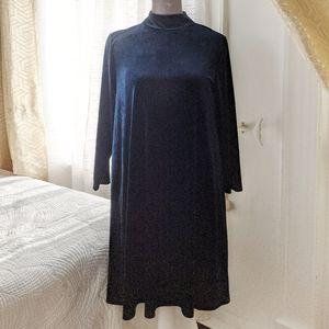Icone Simon's - Deep blue velvet dress